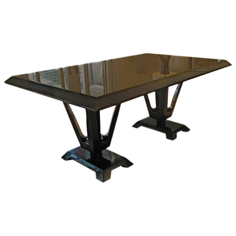Eleanor Forbes For Tapp Dining Table W/ Two Extension Leaves